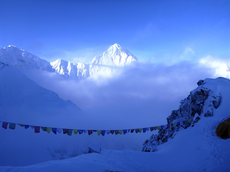 Cho Oyu, early cold morning in c1