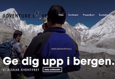 Ny e-shop på adventurelovers.se